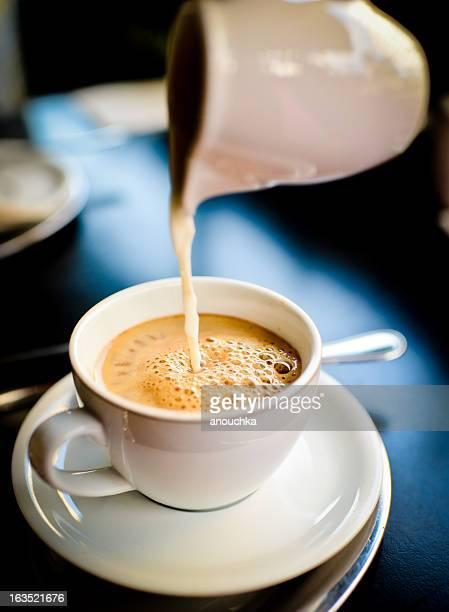 コーヒー、ミルク