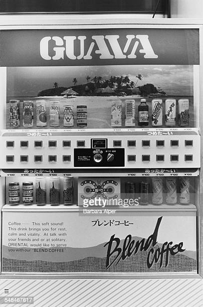 A coffee and soft drinks vending machine in Tokyo February 1988