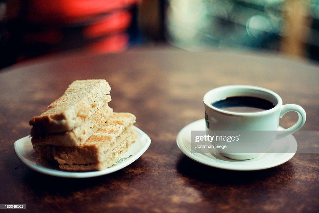 Coffee and toast : Stock Photo