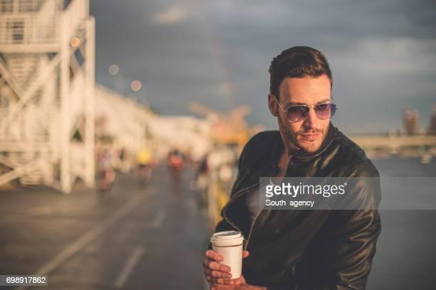 Coffee at riverside