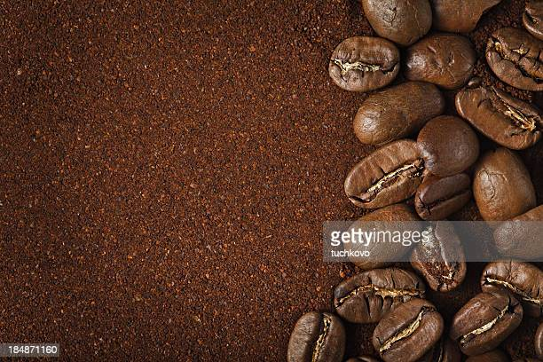 coffee background - ground coffee stock photos and pictures