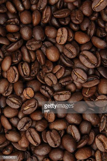Coffee bean background full frame