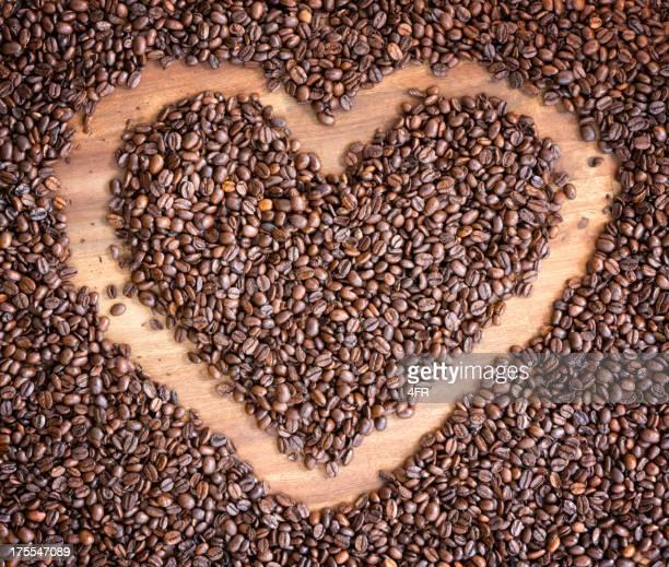Kaffeebohne Herzen (XXXL)