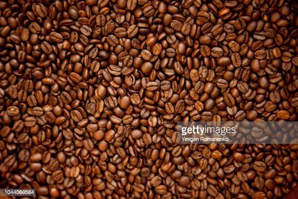 coffee beans background - coffee stock photos and pictures