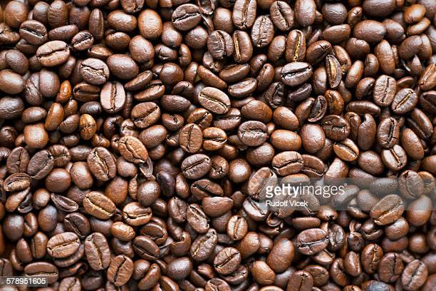 Coffee beans (roasted), full frame