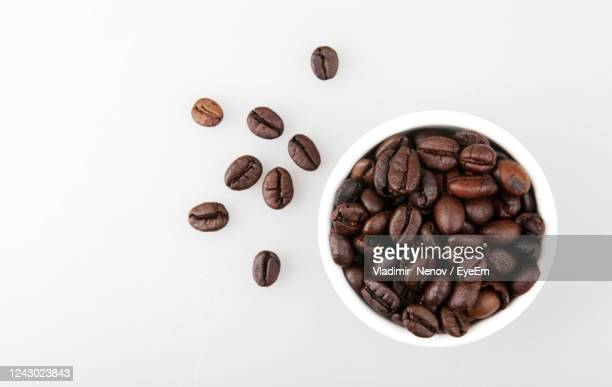 coffee beans isolated on white - mocha stock pictures, royalty-free photos & images