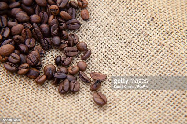 Coffee Beans On Burlap