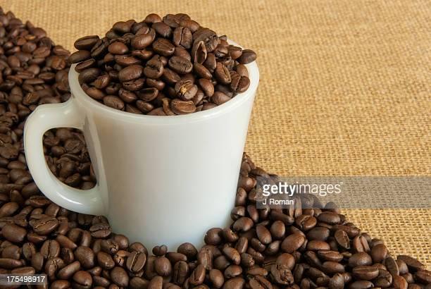Coffee Beans Overflowing
