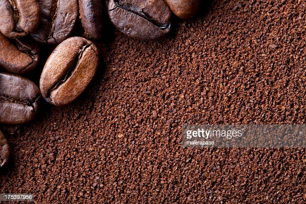 coffee beans - ground coffee 個照片及圖片檔
