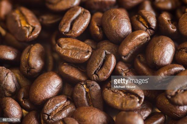coffee beans - ground coffee stock photos and pictures