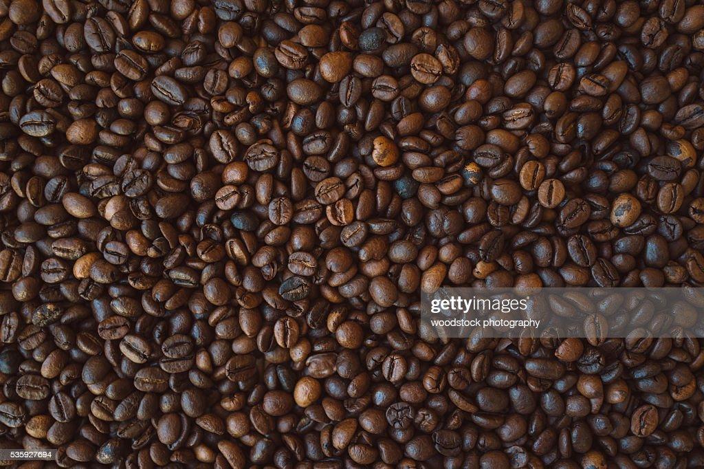 Coffee beans texture : Stock Photo