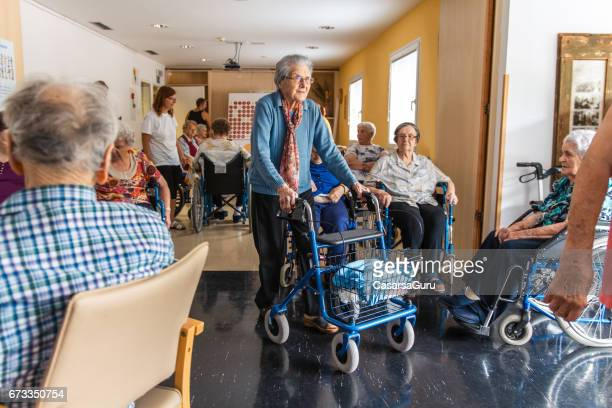 coffee break for seniors in the retirement home - retirement community stock pictures, royalty-free photos & images