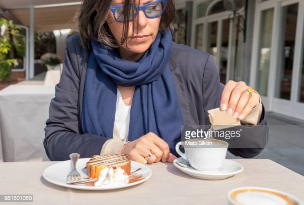 coffee break - sugar coffee stock photos and pictures