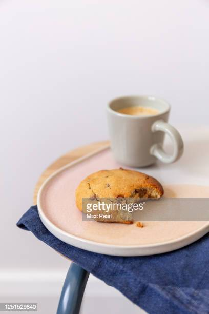 coffee break with homemade cookie - kildare stock pictures, royalty-free photos & images