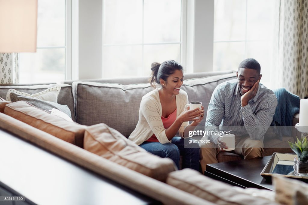 Coffee breaks are even better when they're shared : Stock Photo