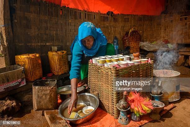 Coffee ceremony Rira Bale Mountains National Park Ethiopia