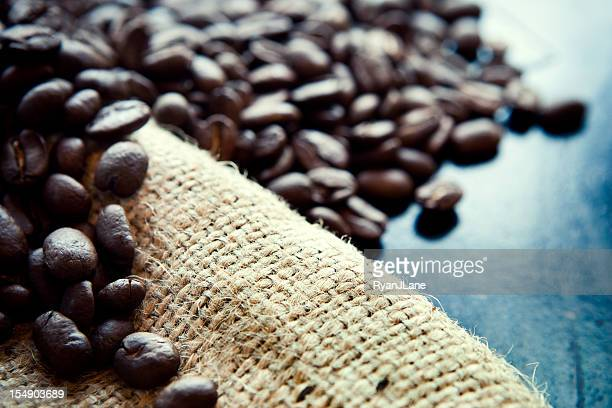 Coffee Crop on Rustic Burlap