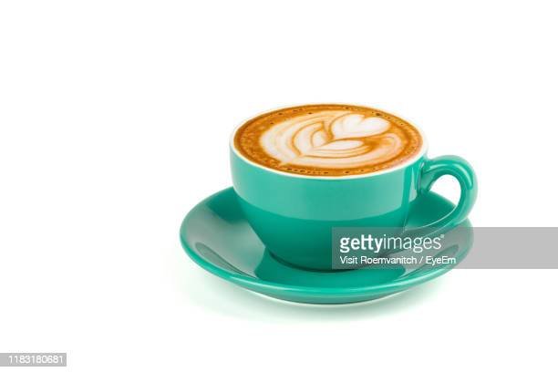 coffee cup against white background - mug stock pictures, royalty-free photos & images