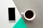 coffee cup black mockup phone color