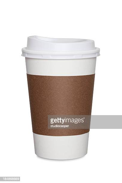 coffee cup isolated - take away food stock pictures, royalty-free photos & images