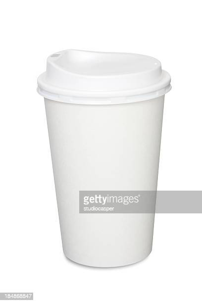 coffee cup isolated - lid stock photos and pictures