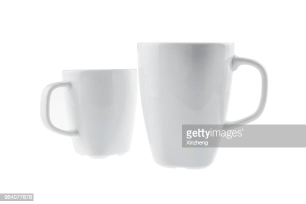 coffee cup on a white background. - mug stock pictures, royalty-free photos & images