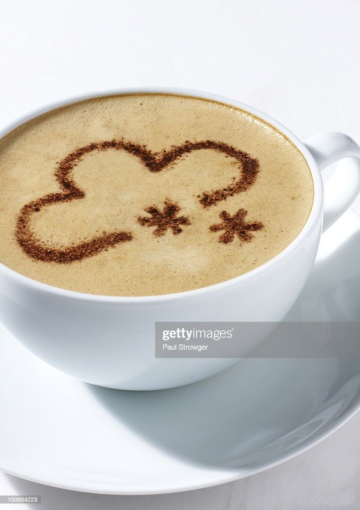Coffee Cup With Snow Weather Symbol Stock Photo Getty Images