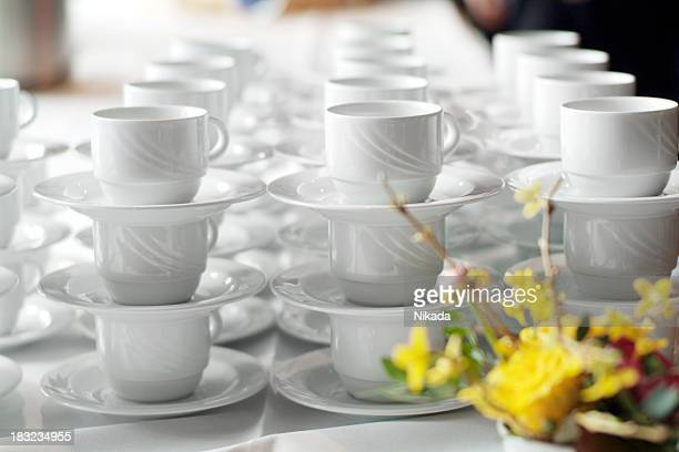 coffee cups & flowers