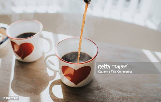 coffee cups - love emotion stock pictures, royalty-free photos & images