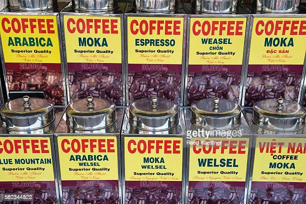 Coffee display in Vietnam