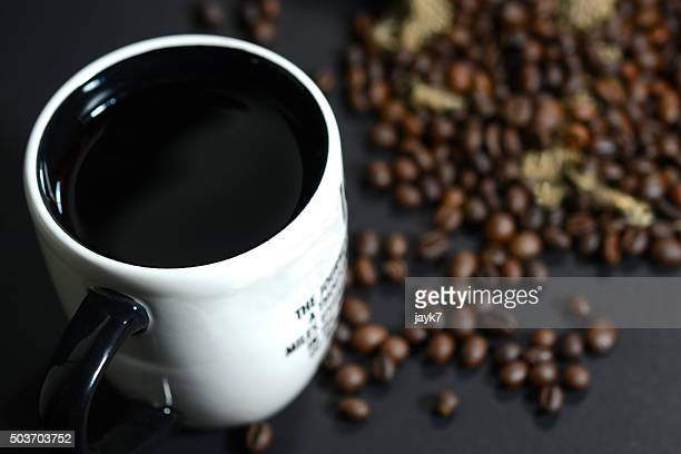 coffee drink and beans - coffee drink stock pictures, royalty-free photos & images