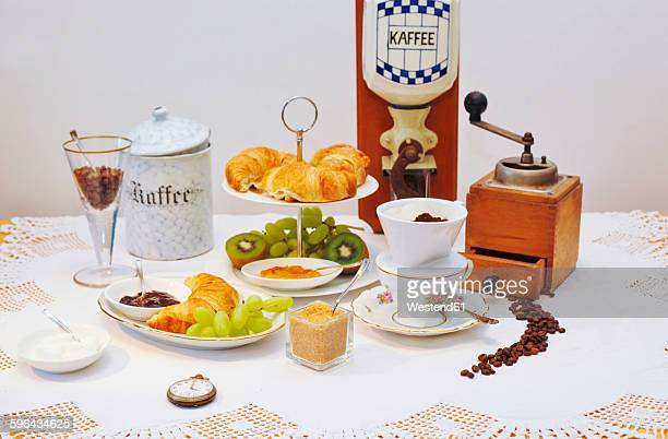 Coffee, fruit and pastries