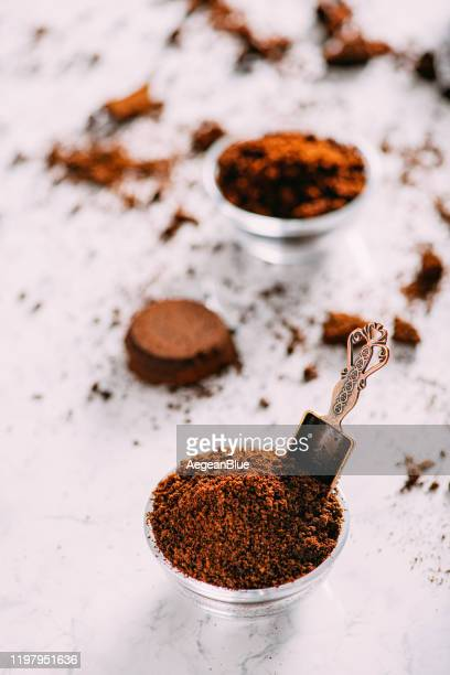 coffee grounds for skin care - caffeine stock pictures, royalty-free photos & images