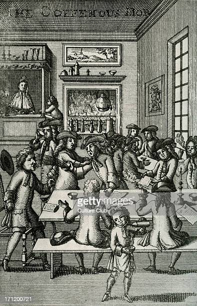 A coffee house late seveenth or eighteenth century