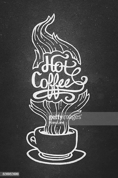 Illustration und gerösteten Bohnen Kaffee
