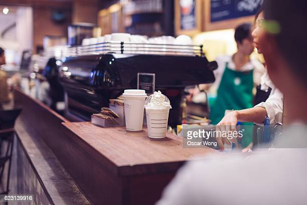 Coffee in coffee counter