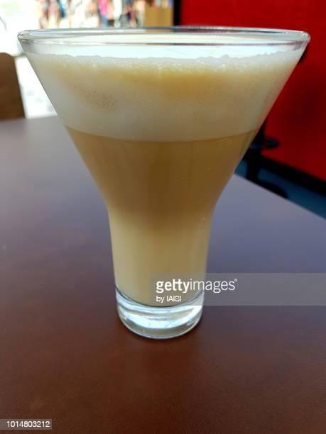Coffee in style against defocused background