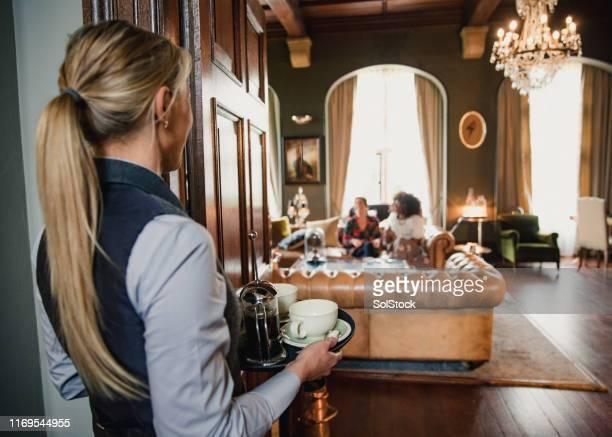 ロビーのコーヒー - 高級ホテル ストックフォトと画像