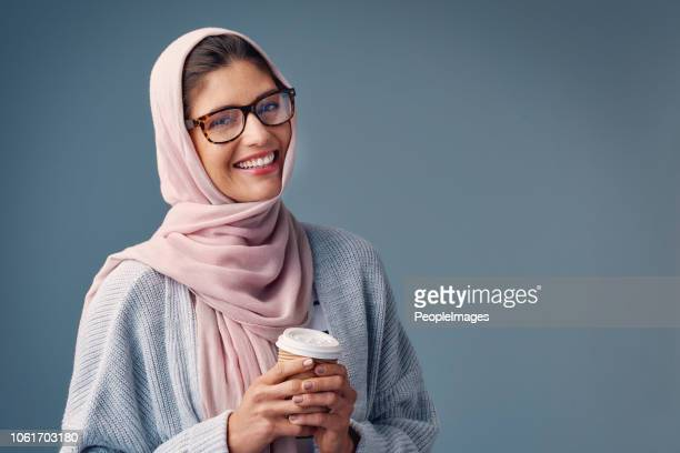coffee is my daily staple - middle eastern ethnicity stock pictures, royalty-free photos & images
