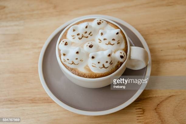 Coffee latte art 3D CATS