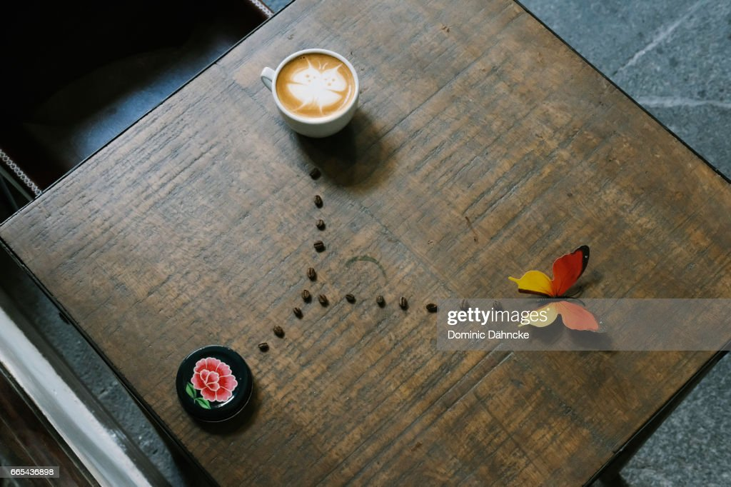 Coffee latte art : Stock Photo