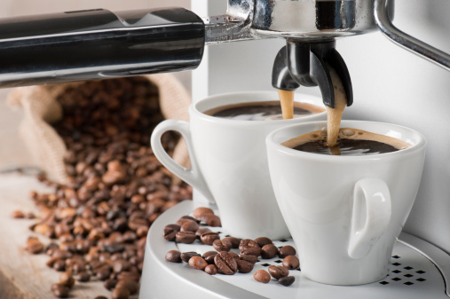 Coffee machine and coffee beans 173655712