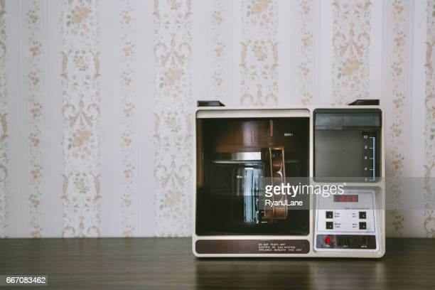 coffee maker in retro style - coffee maker stock pictures, royalty-free photos & images