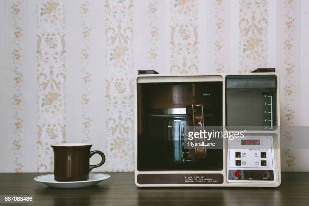 coffee maker in retro style - 1980 stock pictures, royalty-free photos & images