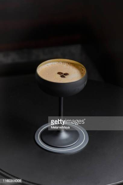 coffee martini - liqueur stock pictures, royalty-free photos & images