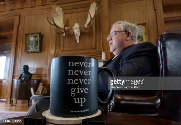 Coffee mug used by David Bernhardt Secretary of the Department of the Interior in his office in Washington DC on May 9 2019
