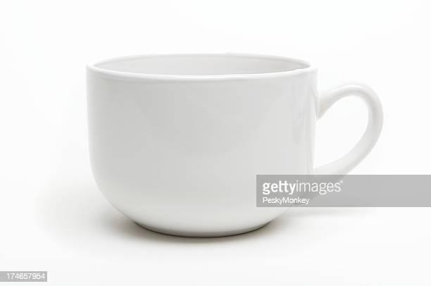 Kaffeebecher mit Schatten weißer Hintergrund