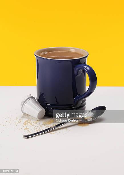 Coffee mug with supplies