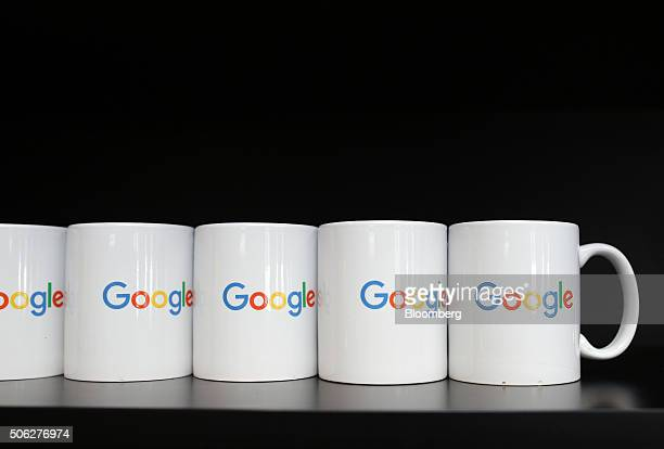 Coffee mugs sit in one of the kitchens at Google Canada's engineering headquarters in Waterloo Ontario Canada on Friday Jan 22 2016 The...