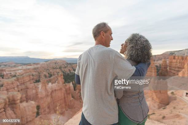 coffee on a cliff - naughty wife stock photos and pictures